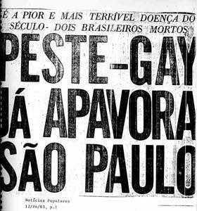 Manchete do jornal Notícias Populares, em 1983. Imagem: Instituto Oswaldo Cruz/reprodução.
